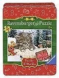 Ravensburger Puzzle 07547 Katze im Schnee, 80 Teile in der Metalldose