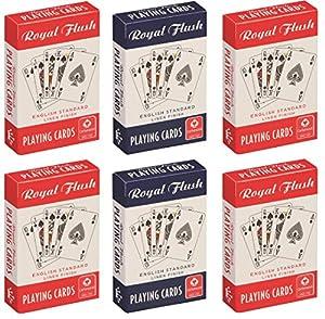Cartamundi 10000844Royal Flush estándar Juego de Cartas Juego (Pack de 6)