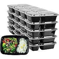 HENSHOW 2 Compartiment Boite Repas Lot de 20Pcs, 1000L Prime Réutilisable sans BPA Boite à Lunch Micro Onde, Congélateur…