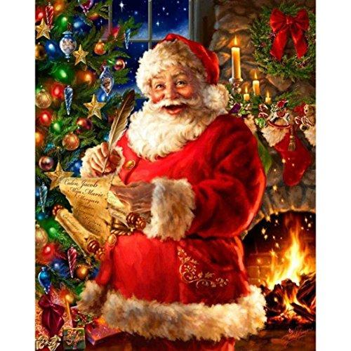 ing,Weihnachten Weihnachtsmann 2018 Theme Sankt B 5D Diamant Malerei Zeichnung DIY Stickerei Kreuz Stich Dekoration Stickerei (Schreiben, 30 * 37cm) ()