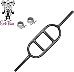 SPORTO Fitness Iron Biceps and Triceps Egg Rod with Locks for Home Gym, 3ft