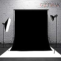 GiftMax® 8 x10 FT LEKERA Backdrop Photo Light Studio Photography Background, (Black)
