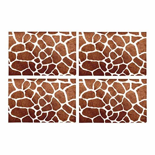 InterestPrint Giraffe Spot Haut Print Animal Tisch-Sets Tischset Set von 4, Tischset für Küche Esstisch Restaurant Home Decor 30,5x 45,7cm