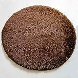 QHGstore Weiche Shaggy Umgebung Rund Teppich Wohnzimmer Teppichboden Schlafzimmer Bodenmatte Teppich Braun 1 2m