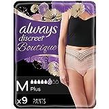 Always Discreet Boutique Panties voor Zwakke Blaas, Houdt Geurtjes en Vocht vast, Medium, 9 Stuks