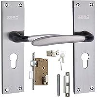 Zero Error AL-56 C.Y Black Silver with OSK (One Side Knobe One Side Key) Lock,Mortise Lock,Door Lock