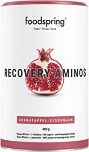 foodspring Recovery Aminos, 400g, Pomegranate, Clean Post-Workout Drink with Plant-Based BCAAs