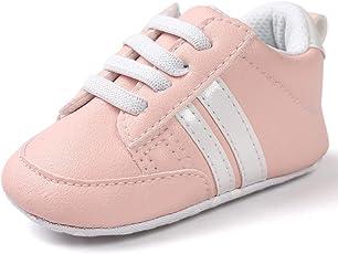 Turnschuhe Babyschuhe Neugeborenen Leder T-Strap Schuhe Sportschuh Jungen Lauflernschuhe Mädchen Krippeschuhe Krabbelschuhe Streifen-beiläufige Wanderschuhe LMMVP