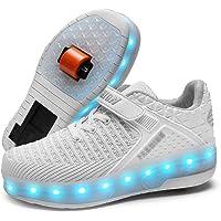 USB Ricaricabile Unisex 7 Colors Flashing Bambino LED Scarpe con Rotelle Automatiche Skate Multisport Running Sneaker…