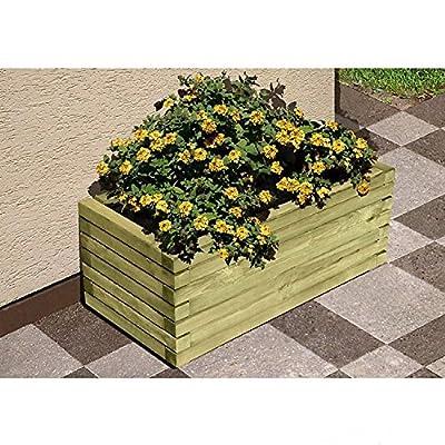 Pflanzkasten Blumenkasten aus Holz rechteckig 80 x 40 x 35 cm von Gartenpirat® von J. Sedlmayr GmbH - Du und dein Garten
