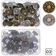calistous 40conjuntos Jeans botón Tack Botones de metal de repuesto Craft Kit de trabajo