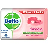 Dettol Skincare Germ Protection Bathing Soap bar, 125gm (Pack of 4)