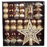 50 tlg. Set Weihnachtskugeln Baumschmuck Weihnachtsbaum Tanne Deko Baum Kugeln