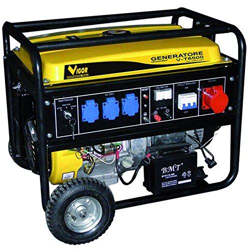 Vigor 53092-30 T-6500 Generatore Carrellato, 5.5 KVA
