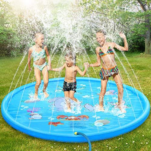 Dookey Splash Pad, Aspersor de Juego, Jardín de Verano Juguete Acuático para...