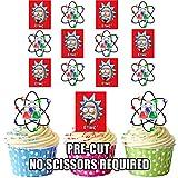 AK Giftshop Essbare Kuchendekorationen, Design: Albert Einstein, vorgeschnittene Ess-Oblaten mit Motiv, für Cupcakes, 12 Stück