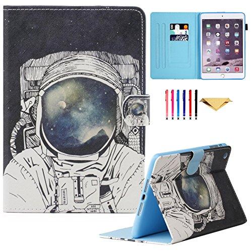 Mini Leder-id-fall (MOKASE iPad Mini Fall, Leder Smart Schutzhülle mit ausklappbarem Ständer Colorful Flip Wallet Schutzhülle für Apple iPad Mini 123(Liebenswürdig, Deer))