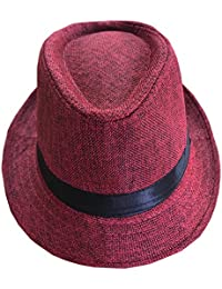 73c5d97c0f3 CLUB CUBANA Fedora Hats Men Women Unisex Trilby Hat Panama Style Summer  Beach Sun Jazz Cap