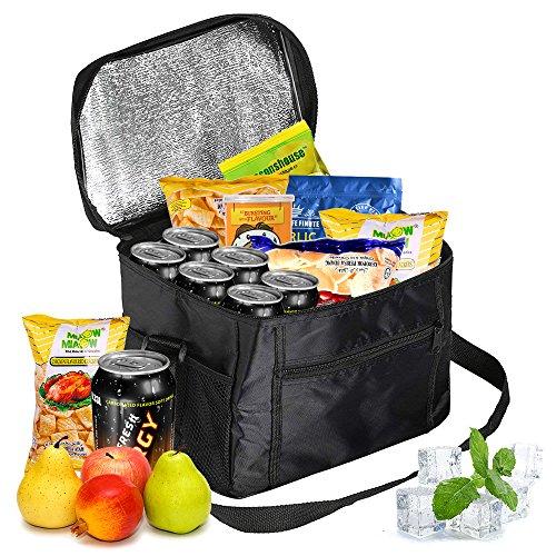 Isimsus picnic borsa, 10l borsa termica pieghevole impermeabile cestino da picnic borsa isolata pranzo per auto, barbecue, campeggio, spiaggia, viaggio, scuola e ufficio (24 x 17 x 24cm)