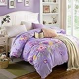 DD RFWEQ ETYU Koreanischen Stil Blumen/Blumen Gestreift 100% Baumwolle Bettbezug - Ich 220 * 240 cm (87 x 94 Zoll)