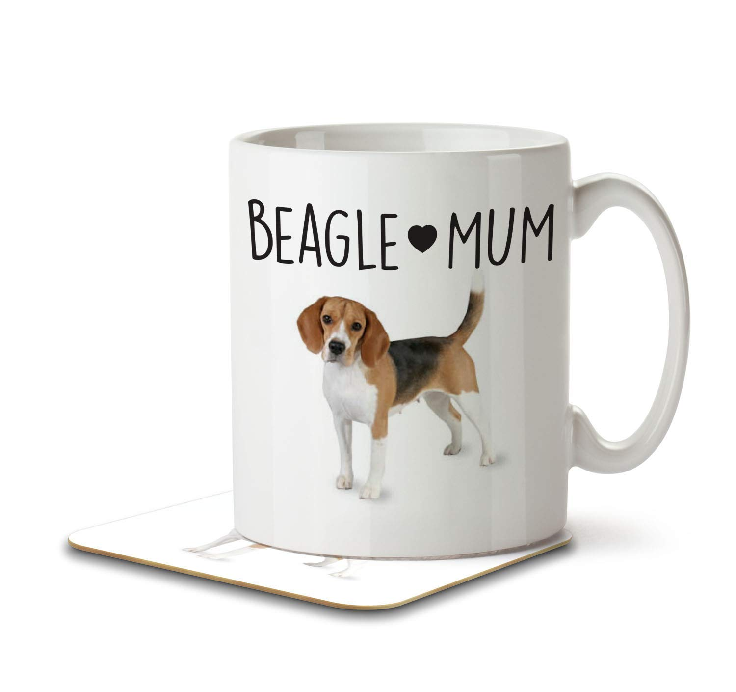 Beagle Mum – Mug and Coaster by Inky Penguin