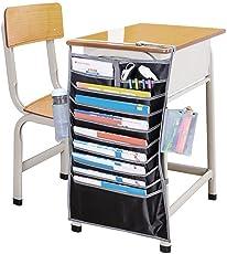 LWVAX Fabric Multifunctional Adjustable Table Desk Side Hanging Storage Bag for Books/Newspaper/Magazine/Stationary(Multicolour, Book Organiser_04)