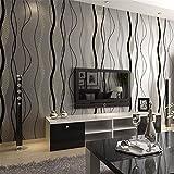 HL-PYL Wallpaper-Umweltschutz Moderne Tapete Vlies Einfache Wohnzimmer Schlafzimmer Fernseher Sofa Hintergrund Kurve Senkrechte Streifen Tapete 10 X 0,53 M