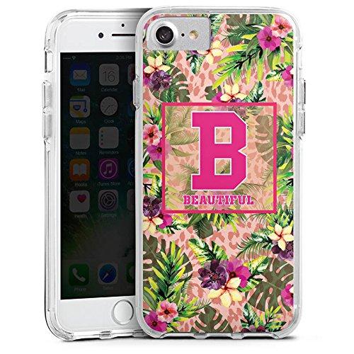 Apple iPhone 7 Plus Bumper Hülle Bumper Case Glitzer Hülle College Magnifique Beautiful Bumper Case transparent
