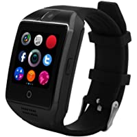KXCD Montre connectée Bluetooth Q18 avec caméra pour téléphone Android, iOS, iPhone, Huawei, Samsung