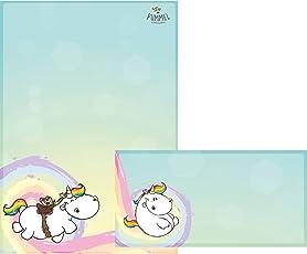 Pummeleinhorn Briefpapier & Umschläge - Pummeleinhorn (Regenbogen)