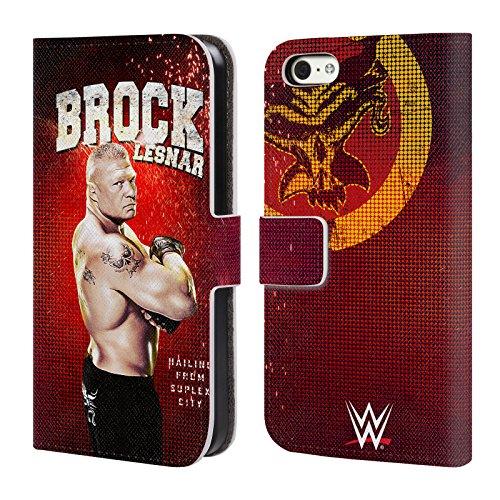 Offizielle WWE John Cena Superstars Brieftasche Handyhülle aus Leder für Apple iPhone 5 / 5s / SE Brock Lesnar