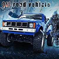 Features:           The car head light can be lighted and function is go forward,go back,turn left and right.     This car is not a speed car but a skill car,its best skill is to challenge any rugged road.     Great strength for the car to mo...