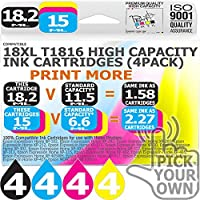 T1816 16 Pack 18XL T1816 Our Capacity Bk 18.2ml Colours 15ml