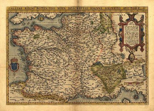 Reproducción de mapa antiguo Galo