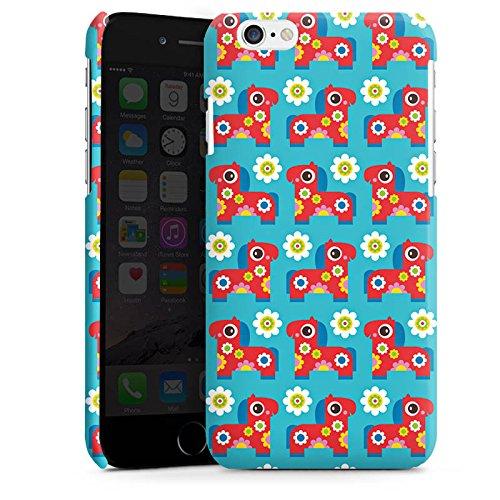 Apple iPhone 6 Housse Étui Silicone Coque Protection Fleurs Fleurs Cheval Cas Premium brillant