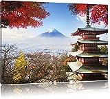 temple japonais à l'automne, format: 120x80 sur toile, XXL énormes Photos complètement encadrées avec civière, impression d'art sur murale avec cadre, moins cher que la peinture ou une peinture à l'huile, pas une affiche ou une bannière,