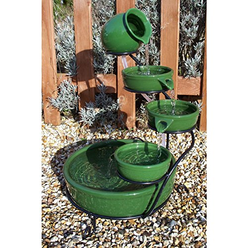 PondKraft Solar Cascade Water Feature Green