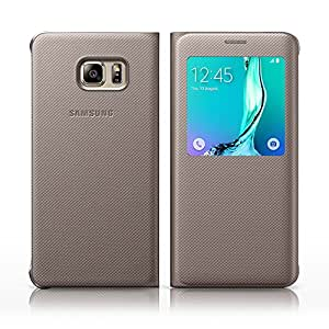 Samsung Original Galaxy S6 Edge Plus S Window View Flip Case Cover - Or