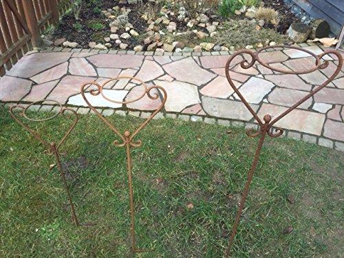 Support pour pot 138 cm Grille décorative Support de pot jardin Tige décorative patine Beet Fiche