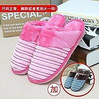Habuji Home Warme Hausschuhe aus Baumwolle Männer und Frauen Paket mit Trampolin innen rutschfeste Schuhe, männlich weiblich 35/36 + 43/44, Rosa + Blau