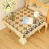 fwerq Continental Tisch Tischdecke Spitze, Kaffee Tischdecke, Square Seite Nachttisch tv Cabinet Cover - ein Handtuch 110 x 110 cm (43 x 43 Zoll)