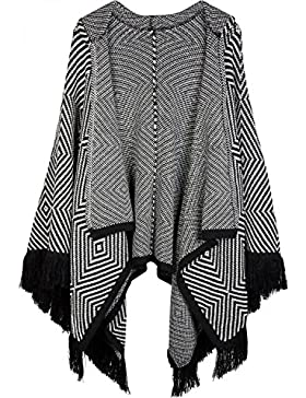 styleBREAKER - Poncho - capa - Étnica - para mujer