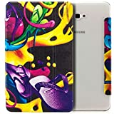 zanasta Hülle Samsung Galaxy Tab A 10.1 Tablettasche Tasche Schlank Slim Case Smart Cover Leicht Anti-Kratzer Schutzhülle, Einstellbare Standfunktion Cover Motiv Flipflops