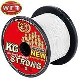 WFT New KG Strong Trans 600m 0,12mm 15kg - Geflochtene Angelschnur Zum Meeresangeln, Meeresschnur,...