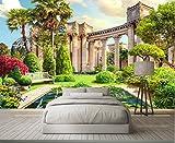 Wh-Porp Benutzerdefinierte 3D Wallpaper Römische Spalte Garten Landschaft 3D Hintergrund Wandtapeten Für Wohnzimmer 3D-450Cmx300Cm