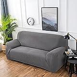 ele ELEOPTION Sessel Überwürfe Sofabezug elastische Stretch stricken Sofa Überwürfe Verdickung Couchbezug (Grau 2, 2 Sitzer für Sofalänge 140-170cm)