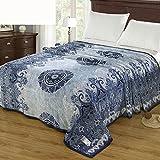 Kuscheldecken HMLIFE Blaue warme Decke Polyester Material Schlafzimmer Bettdecke Vier Jahreszeiten Home Freizeit Decke weich und komfortabel (größe : 150 * 200cm)