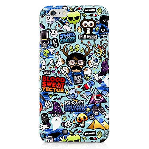 Cartoon Sticker Hard Plastic Snap Case Cover For Iphone 6 Plus Custodia
