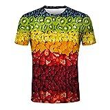 Bcfuda Uomo Camicia Felpa Maglietta T-Shirt Manica Corta con Stampa 3D di Frutta