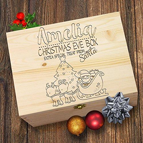 personalisierbar Santa Rentier Christmas Eve Treat Box